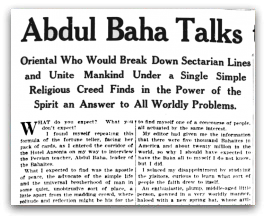 Abdul Baha Talks To Kate Carew Of Things Spiritual And Mundane Abdu L Baha In America