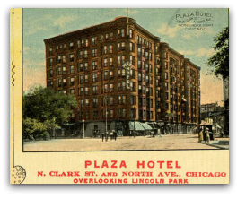 Plaza Hotel Chicago where 'Abdu'l-Baha gave two talks on May 3, 1912