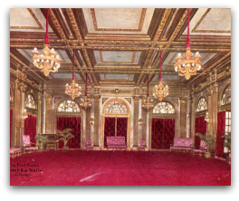 Red Room Hotel La Salle where 'Abdu'l-Baha addressed the Baha'i Women's Reception 2 May 1912