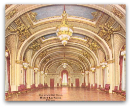 Grand Ballroom where 'Abdu'l-Baha spoke to the Women's Clubs on 2 May 1912