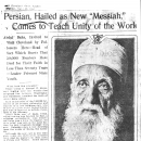 "Persian Hailed as New ""Messiah,"" Comes to Teach Unity of the World"