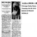 Baha is Peace Herald