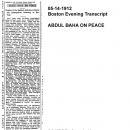 Abdul Baha on Peace