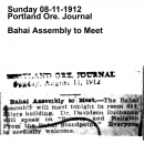 Bahai Assembly to Meet