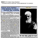 Persian Peace Prophet Gives Message to Canada through the Standard