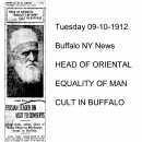 "Head of Oriental ""Equality of Man"" Cult in Buffalo"