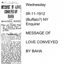 Message of Love Conveyed by Baha