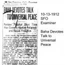 Baha Devotes Talk to Universal Peace