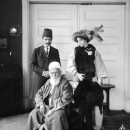 'Abdu'l-Baha With 'Ali Kuli Khan & Florence Breed Khan at the Home of Saffa & Vaffa Kinney in New York City