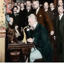 Alexander Graham Bell (1847-1922) hosted a meeting in his home where he received 'Abdu'l-Baha on 24 April 1912.
