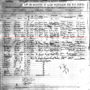 'Abdu'l-Baha's Signature on the S.S. Cedric Passenger List