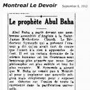 Le Prophete Abul Baha