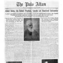 Abdul Baha, the Bahai Prophet, Speaks at Stanford University