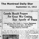 Canada Should Prepare For Great War Coming, Says Apostle of Peace