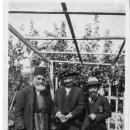 Amelia Collins with 'Abdu'l-Baha's Gardener and Saichero Fujita